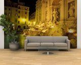 Fontaine de Trevi la nuit, Rome, Italie Reproduction murale (géante) par Connie Ricca