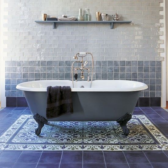 Use tiles in an unconventional way | Bathroom updates - 20 of the best | housetohome.co.uk