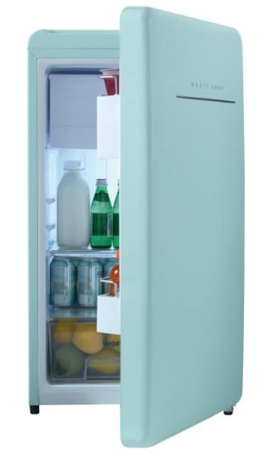 magic chef retro edition small refrigerator in mint red and rh pinterest com