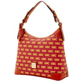 NCAA College Basketball/ March Madness | Dooney & Bourke | NCA USC Hobo  NCAA | Basketball Handbag | Basketball Accessory | Basketball Accessories | Basketball Purse | Fashion | Style