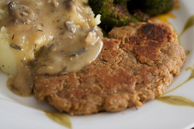 Chickpea cutlets (PPK) - our traditional vegan main dish at Thanksgiving and Christmas