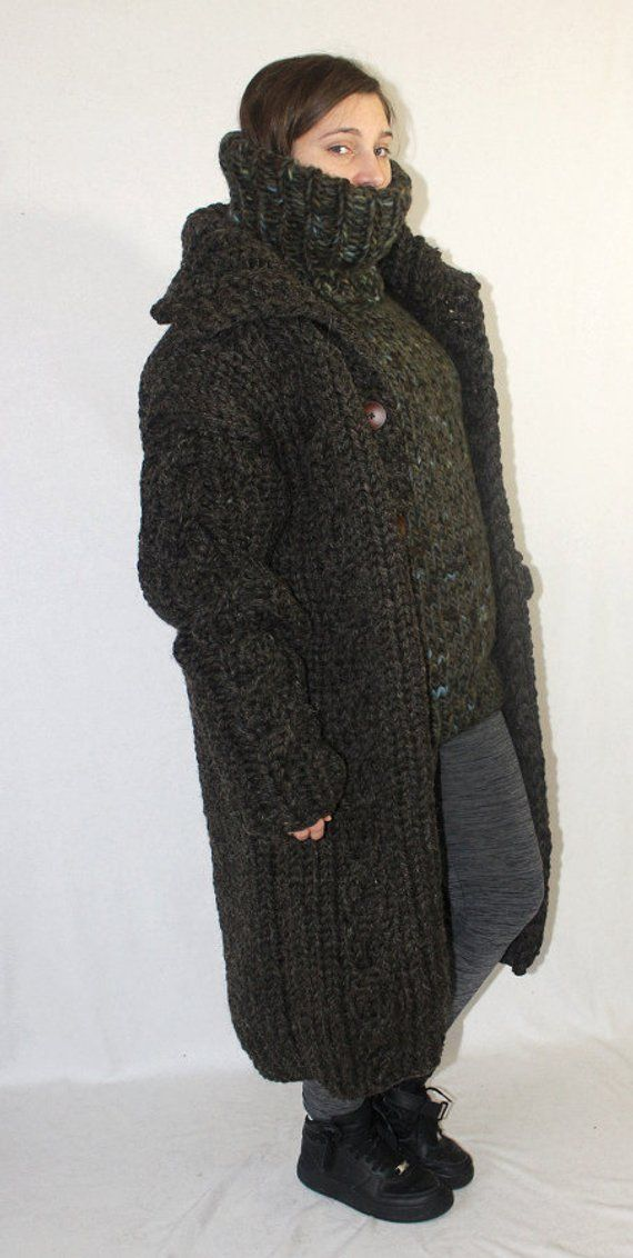 Cardigan Kg Thick Scratchy Knit 4 5 Wool Coat And Itchy GqMSzUpV