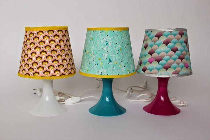 Lily en Woody: DIY: De kegelvormige lampenkap
