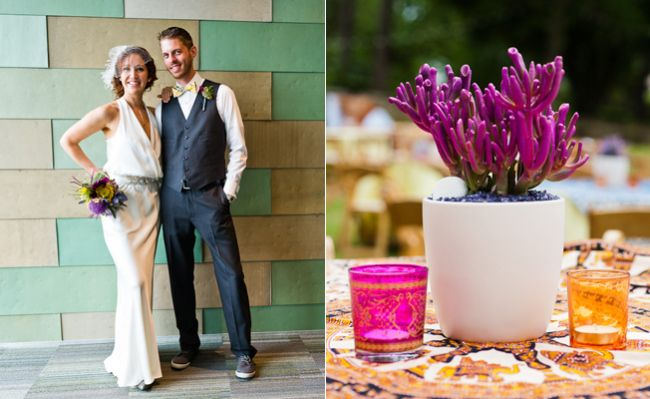 The colors in this wedding are phenomenal!! What a lovely bright and modern wedding. Taken at the French Legation Museum by Cory Ryan