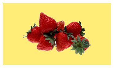Citroenvla met aardbeien