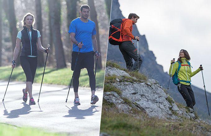 Quelles différences entre les bâtons de marche nordique et les bâtons de randonnée ? | Newfeel