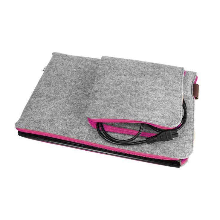 Laptop macbook sleeve filz tasche Laptop schutzhulle #filztasche #laptoptasche #macbookschutzhulle #fuchsia #fuksja #pink #pinkzipper