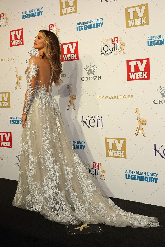 Like, actually, I think we can crown her Best Dressed already. | Delta Goodrem's Ice Princess Gown Just Slayed The Logies Red Carpet