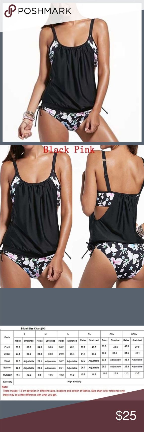Tankini Swimsuit GORGEOUS Ladies Tankini Swimsuit, lined up and doubled up!! BRAND NEW AND NEVER WORN! Swim