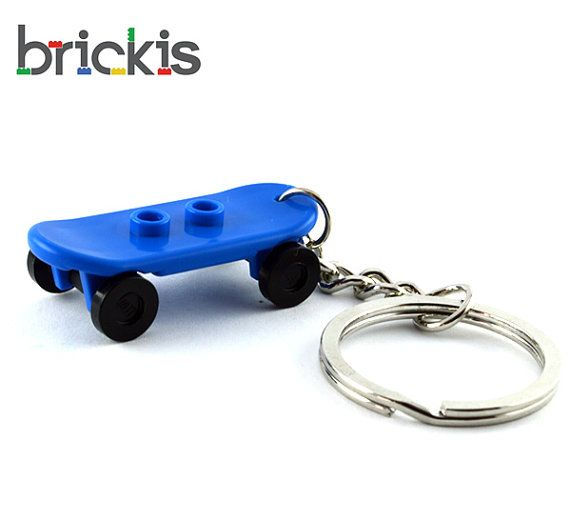 LEGO® keychain made with skateboard party favors birthday party