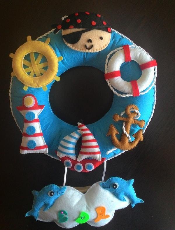 Denizci Temalı Çocuk Odası Kapı Süsü