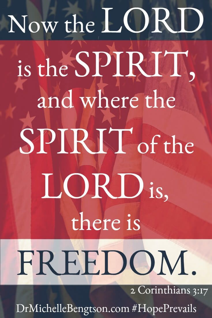 Now the Lord is the Spirit, and where the Spirit of the Lord is, there is freedom. 2 Corinthians 3:17 Bible Verse