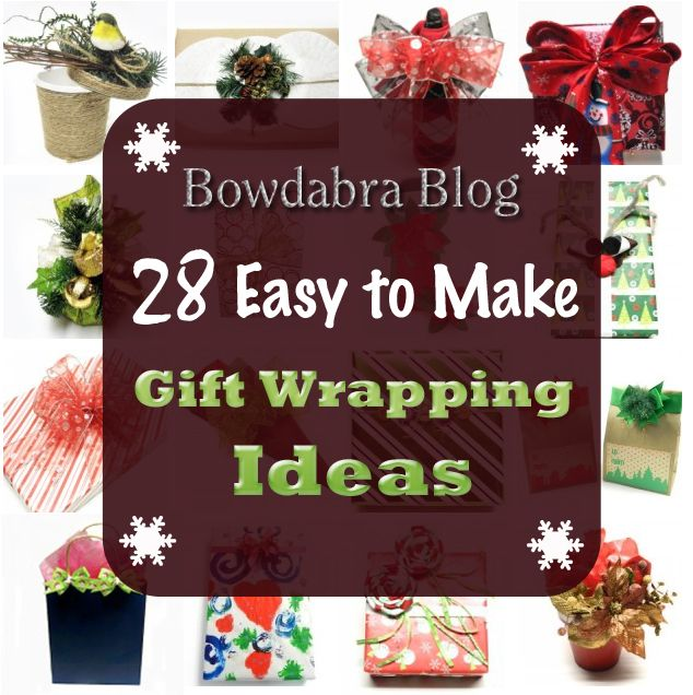 28 Creative DIY Christmas Gift Wrapping Ideas #DIY #CRAFTS #WRAPPING