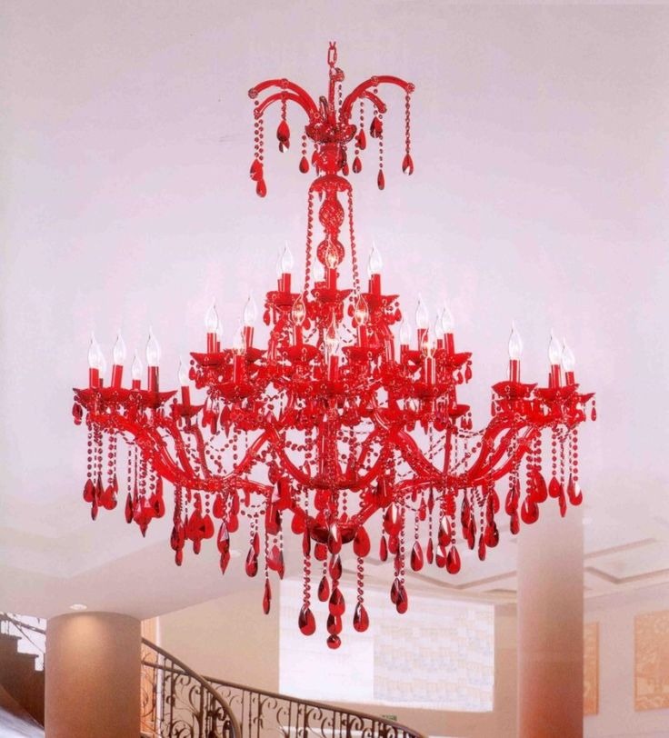 Lighting Astonishing Red Crystal Chandelier Models Luxury Interior Living Room Furniture Idea Beautiful Ornament Ideas Modern