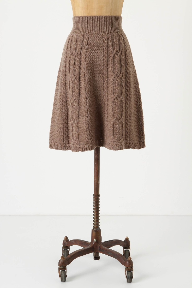 Cable knit skirt. Hmmm.....