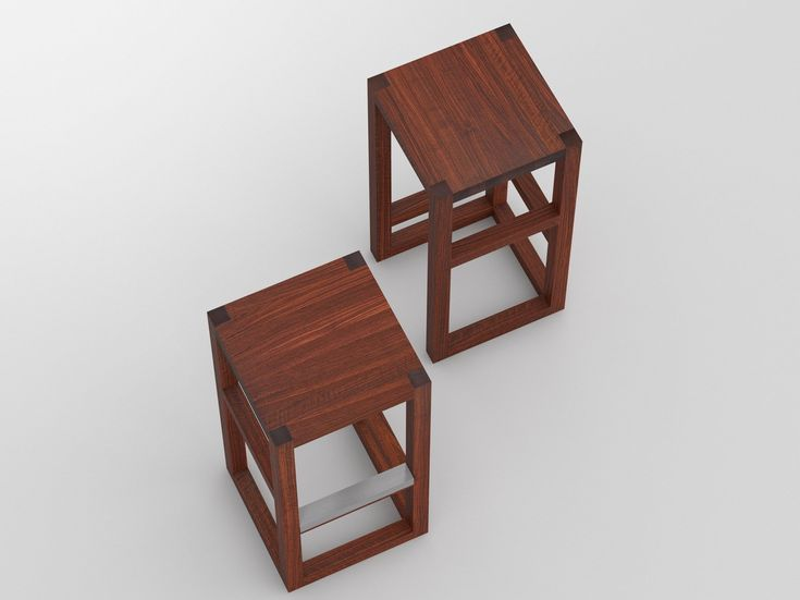 Buy online Step By vitamin design, high solid wood stool design GG designart