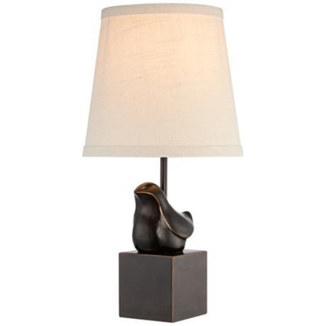 Nice Bronze Bird Accent Lamp