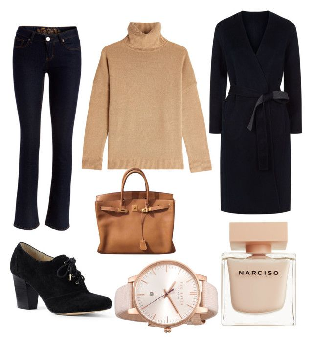 """Untitled #75"" by danaemf on Polyvore featuring Fashion Hunter, Lands' End, Vince, The Kooples, Hermès, Narciso Rodriguez and Ted Baker"