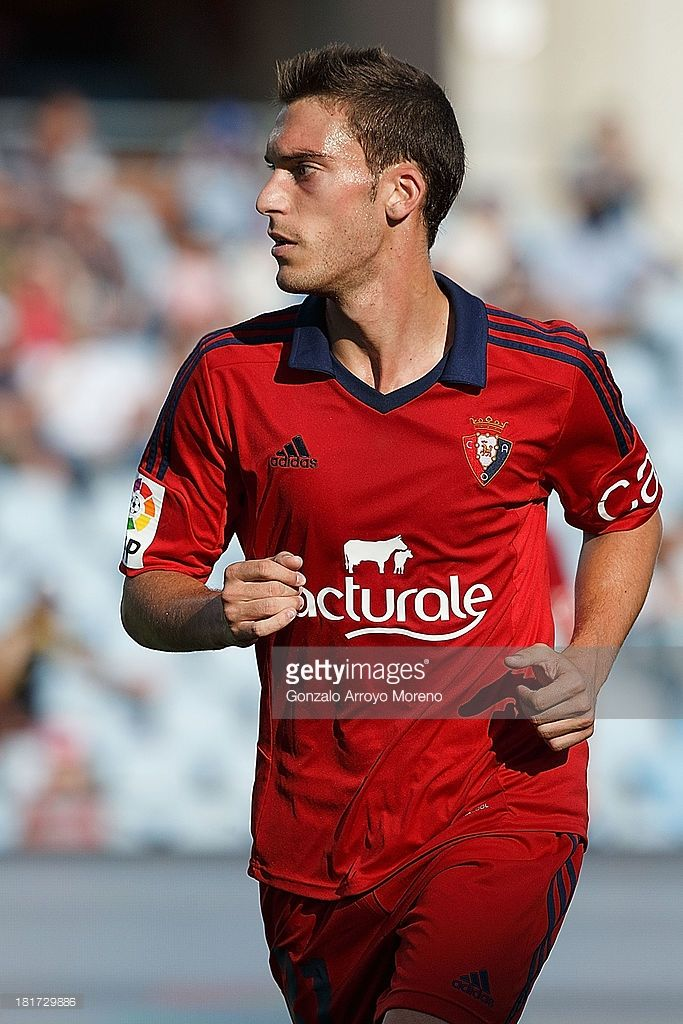 Roberto Torres of CA Osasuna looks on during the La Liga match between Getafe CF and CA Osasuna at Coliseum Alfonso Perez on September 15, 2013 in Getafe, Spain.