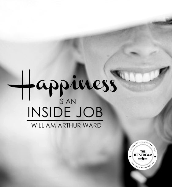Happiness is an inside job. | Julian Pencilliah Inspire #Happiness #SelfMotivation #Quotes