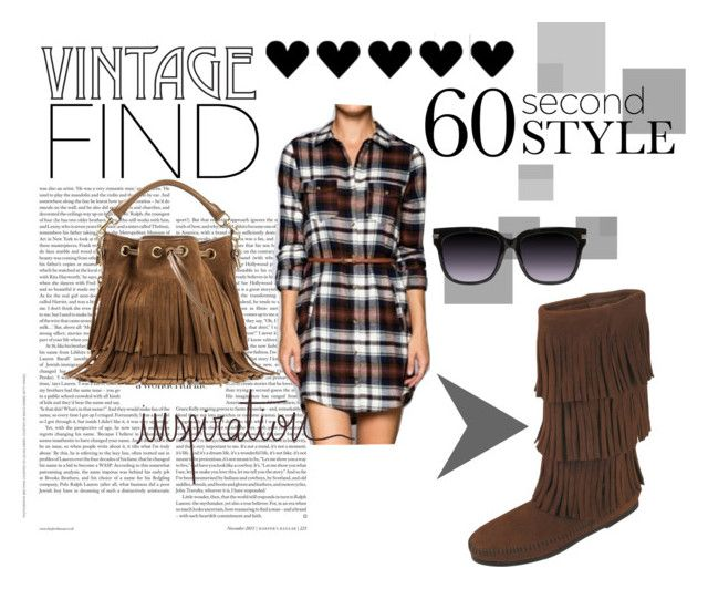 Easy breezy plaid and fringe outfit! by pulseboutique on Polyvore featuring Minnetonka, Yves Saint Laurent and vintage