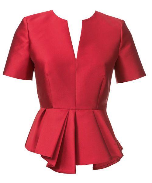 943dc34a037 Блузка с баской разной длины - выкройка № 115 из журнала 8 2013 Burda – выкройки  блузок на Burdastyle.ru