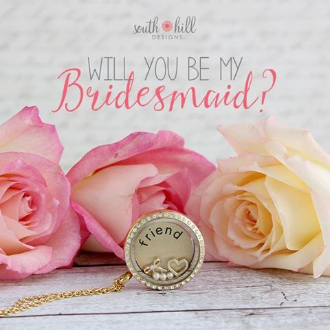 Something old, something new, something borrowed, and you! Dazzle your bridesmaids and let them know they mean the world to you with the Friend Locket. http://SouthHillDesigns.com/TammyTamayo