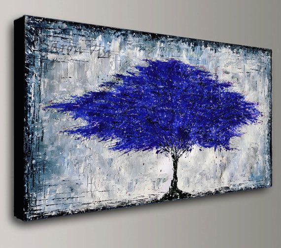 Abstract Painting Acrylic Painting Blue Black Grey Painting Large Canvas Art Original Wall Art Ho Abstract Painting Acrylic Grey Abstract Art Abstract Painting