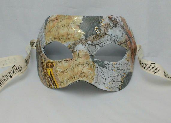 Masks for men music themed masquerade mask men's masks