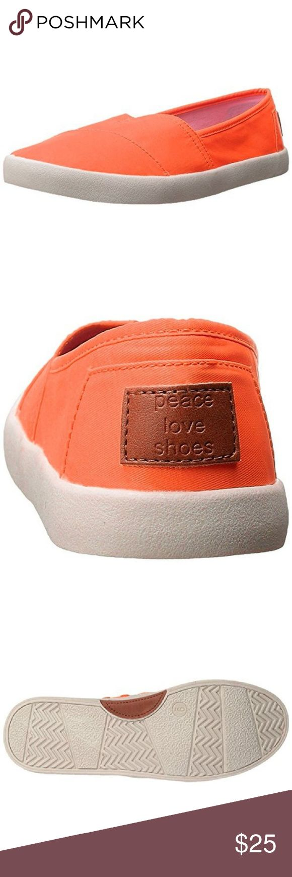 """SALE Madden Girl Orange Canvas Flats NIB 7.5 MAJOR CHRISTMAS SHOE & SLIPPER SALE - PRICES ARE FIRM All shoes and slippers on sale through tomorrow night.  Super cute slip on """"Sail On"""" flats. NIB 7.5 Madden Girl Shoes Flats & Loafers"""