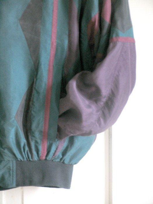 Outerwear 80 Silk Zip up Jacket Windbreaker by artwardrobe on Etsy, $35.00