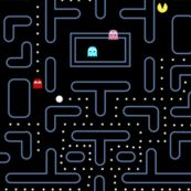 Mock Pacman 2.0 by pixeldust, click to purchase fabric