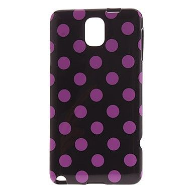 Dress your precious mobile device with the Lovely Dots TPU Case for Samsung Galaxy Note 3 and make it look lovelier than usual. Boasting with durable hard plastic back cover finished with lovely design, this Cool Samsung GALAXY Note 3 case is sure to keep your phone well protected and stylish all the time. Get it at a very low price only here!