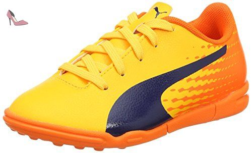 Puma Evospeed 17.5 Tt Jr, Chaussures de Football Mixte Enfant, Jaune (Ultra Yellow-Peacoat-Orange Clown Fish 03), 38.5 EU - Chaussures puma (*Partner-Link)