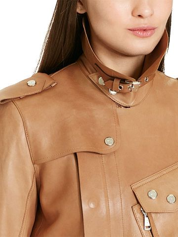 Bonded Leather Military Trench - Polo Ralph Lauren Coats - RalphLauren.com