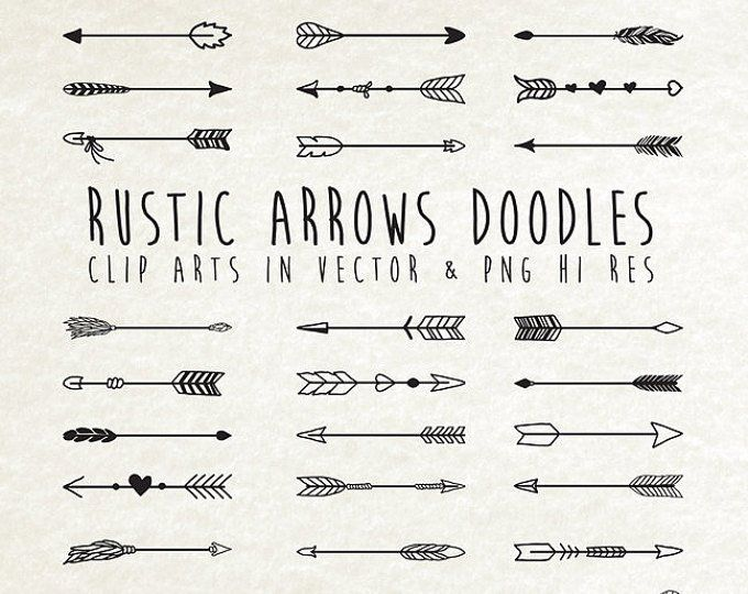 Hand Drawn Rustic Arrows Feathers And Dream Catcher Clipart Etsy Arrow Doodle How To Draw Hands Hand Drawn Arrows
