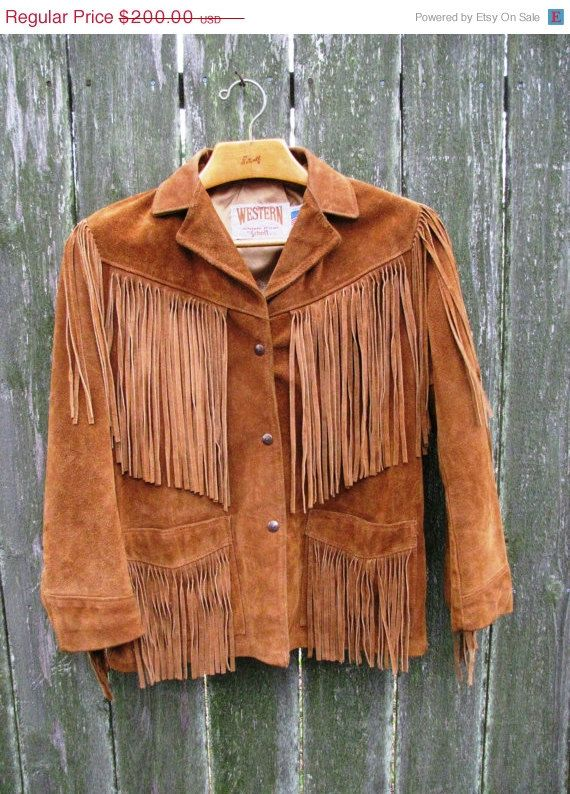 Hey, I found this really awesome Etsy listing at https://www.etsy.com/listing/181083603/thanksgiving-sale-vintage-fringe-leather