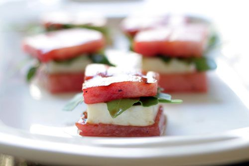 Watermelon grilled cheese bites