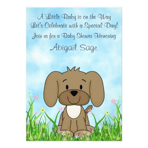 Puppy Baby Shower Invitations Diabetesmangfo