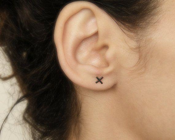 x goujons minimaliste boucles d'oreille des boucles par AIRlab