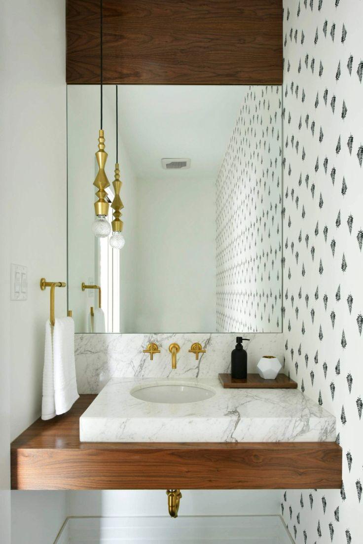 Weisse Kuche Und Dunkles Holz Fur Eine Stilvolle Haus Renovierung Neu Besten Pulver Raumgestaltung Damentoilette Modernes Badezimmer