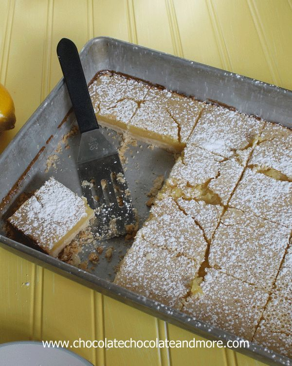 Lemon Pie Bars-all the taste of a Lemon Pie with the convenience of a handy bar