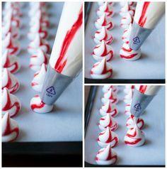 Peppermint Meringue Kisses | thekitchenmccabe.com