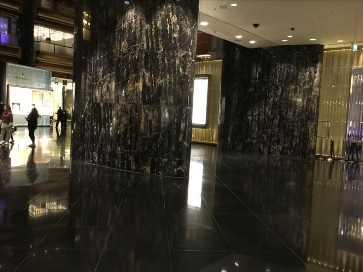 Photo 4: Crown Casino, the Atrium. Italian Marble pillars excentuates extravagance and glamour.