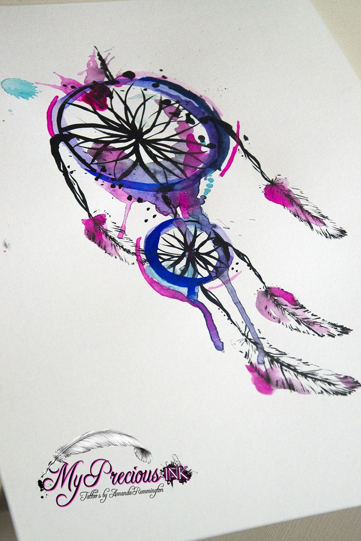 Watercolor dreamcatcher tattoo pinterest for Watercolor dreamcatcher tattoo