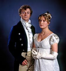 Crispin Bonham-Carter (Mr. Charles Bingley) and Susannah Harker (Jane Bennet) - Pride and Prejudice directed by Simon Langton (TV Mini-Series, BBC, 1995) #janeausten