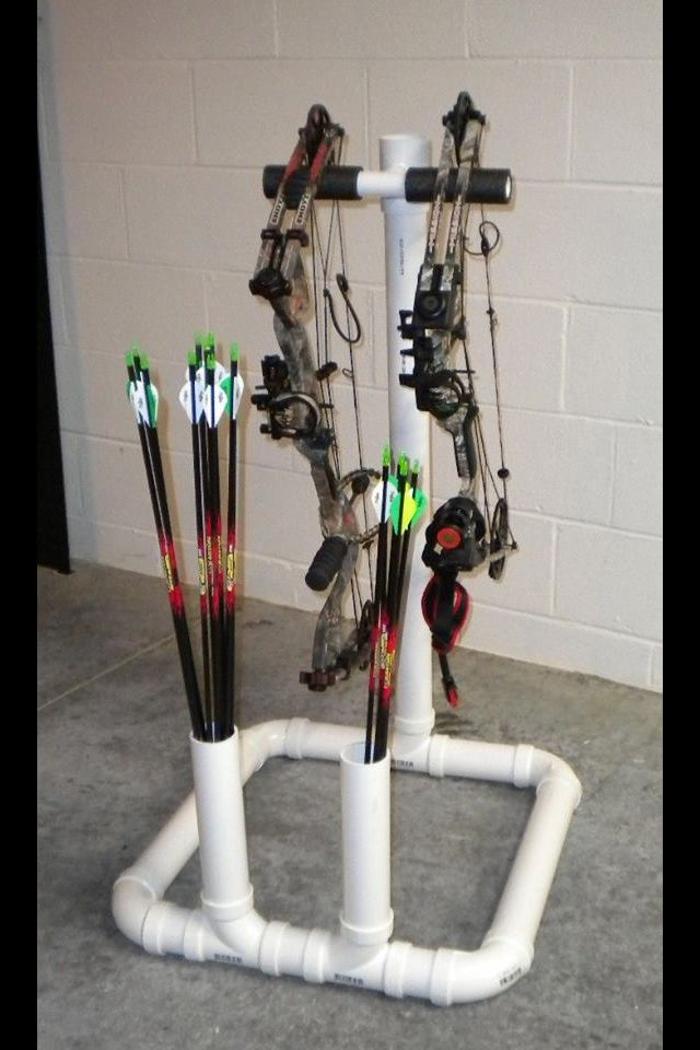 Bow rack made out of PVC pipe