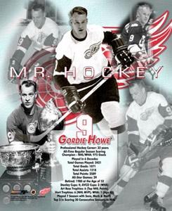Gordie Howe MR. HOCKEY Poster - Detroit Red Wings. Canada hockey legend, #hockey player.