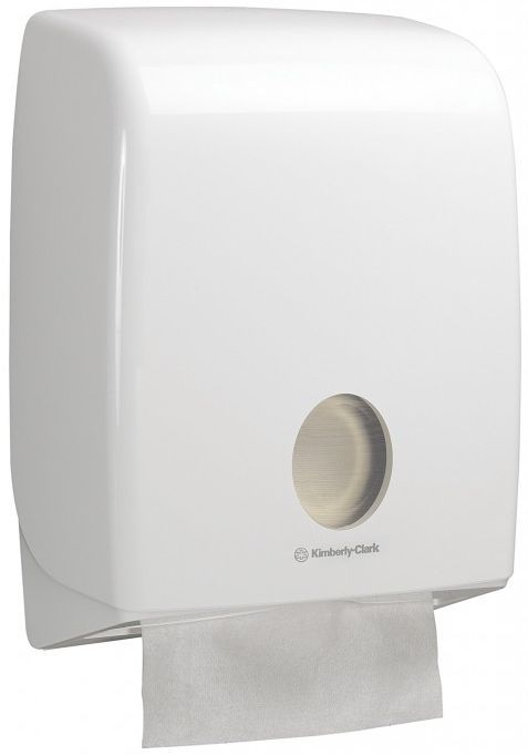 NOU de la Kimberly-Clark! Dispenser C Fold Aquarius, fabricat din plastic, design elegant si modern.