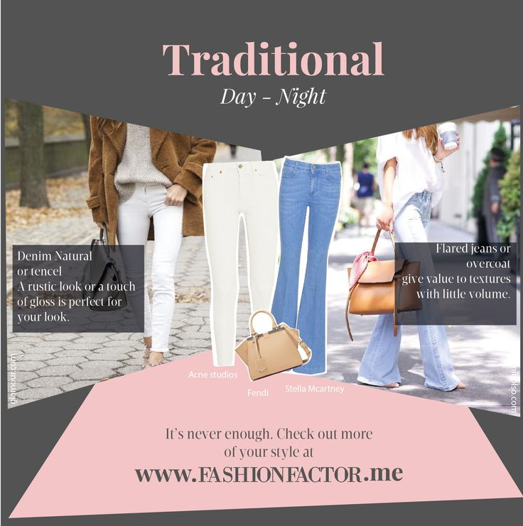 Denim is versatile and has its own personality. Discover how to adapt it to your traditional style both for daytime and night time